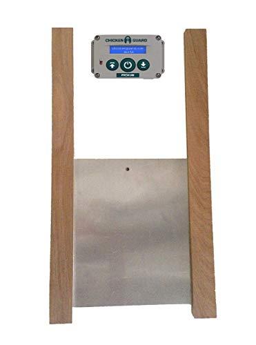 Premium Automatic Chicken Coop Pop Door Opener & Door Kit Combo   Outdoor/Indoor Auto Door Opener, Chicken Coop Accessories by ChickenGuard