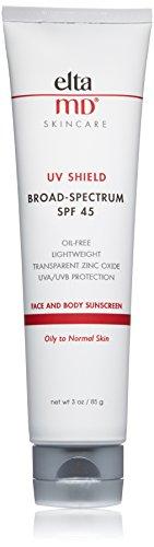EltaMD UV Shield Facial Sunscreen Broad-Spectrum SPF 45, Oil-free, Dermatologist-Recommended Mineral-Based Zinc Oxide Formula, 3.0 oz