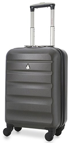 "Aerolite American, United and Delta Airlines MAX ABS Hardshell Luggage Suitcase Spinner Carry On, 22"" L x 14"" W x 9"" H"