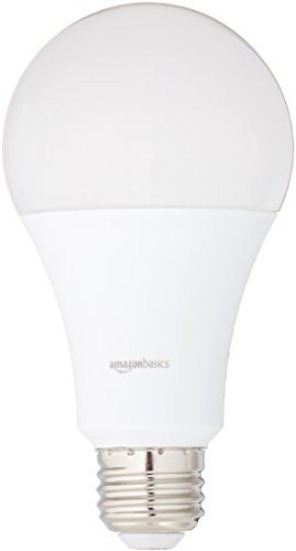 AmazonBasics 100 Watt Equivalent, Daylight, Non-Dimmable, A21 LED Light Bulb | 6-Pack