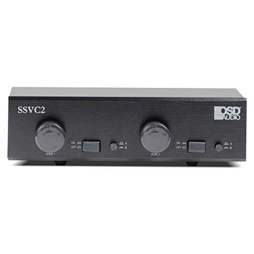 OSD Audio 2-Zone Speaker Selector - 300W Dual Source with Volume Control - SSVC2