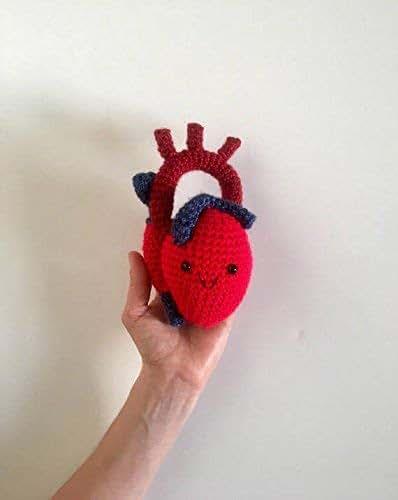 Amazon.com: Crochet Anatomical Heart Plush: Handmade