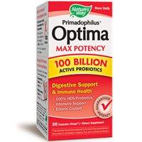 Nature's Way Primadophilus Optima Max Potency 100 Billion Active Probiotics -- 30 Capsules (Vcaps) ( Multi-Pack)