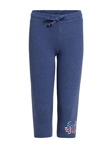 Jockey Girl's Cotton Leggings (UG07_Denim Blue Melange_11-12 Years)