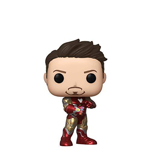 Funko Pop! Marvel: Avengers Endgame - Tony Stark (Iron Man 3) con Guante, Otoño Convención...
