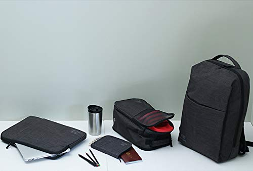 31Viwmnu7jL - WAABI-SAABI Polyester Grey Laptop Backpack