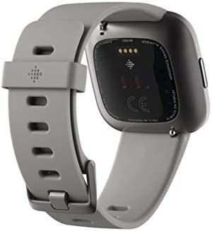 Fitbit Versa 2 Health and Fitness Smartwatch with Heart Rate, Music, Alexa Built-In, Sleep and Swim Tracking, Stone/Mist Grey, One Size (S and L Bands Included) 6