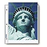 Print File Archival Photo Pages Holds Two 8.5x11' Prints, Pack of 25