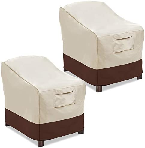 Vailge Patio Chair Covers, Lounge Deep Seat Cover, Heavy Duty and Waterproof Outdoor Lawn Patio Furniture Covers ( 2 Pack – Large, Beige & Brown) .