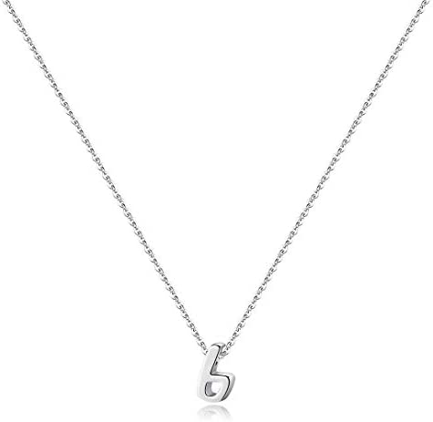 Memorjew 925 Sterling Silver Initial Necklace for Women Girls, Dainty Hypoallergenic Cursive Initial Necklace for Women Girls Jewelry Gifts