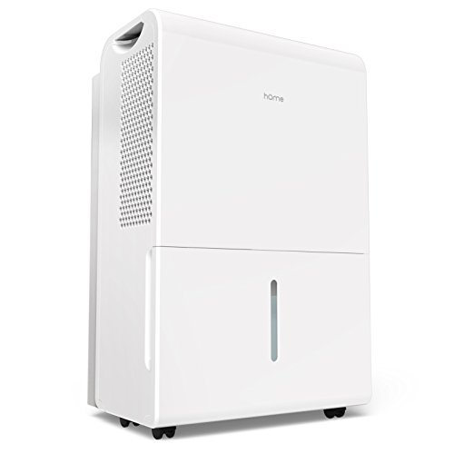 hOmeLabs 9 Gallon (70 Pint) Dehumidifier Energy Star Safe Mid Size Portable Dehumidifiers for Basements Large Rooms up to 4000 Sq Ft with Fan Wheels and Drain Hose Outlet to Remove Odor and Allergens