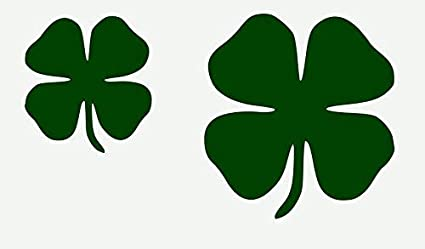 Amazon Com Outletbestselling Stencil Four Leaf Clovers Shamrocks Projects Crafts 4 Leaf Clovers