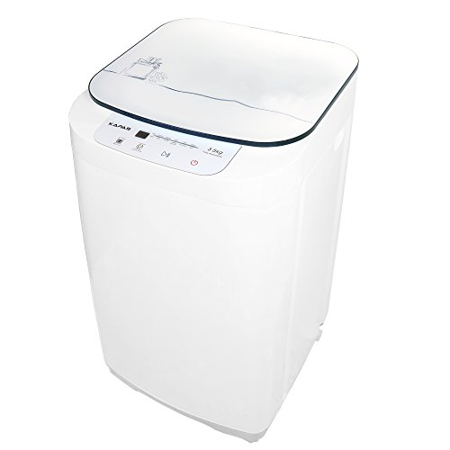 Compact Washing Machine, KAPAS Fully Automatic 2-in-1 Washer & Dryer Machine with 8 lbs Capacity Top Load Tub Washer Built-in Drain Pump and Long Hose