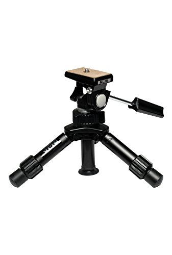 SLIK Mini-Pro V Tripod with 2-Way Pan/Tilt Head, Black (611-352)