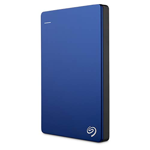 Seagate Backup Plus Slim 2TB External Hard Drive Portable HDD – Blue USB 3.0 for PC Laptop and Mac, 2 Months Adobe CC Photography (STDR2000102)