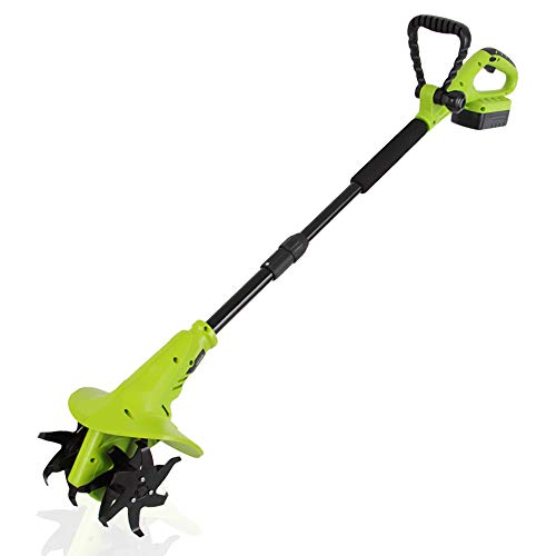 18V Handheld Electric Cordless Tiller - Battery Powered Hand Held Front Tine Soil Cultivator, High Power Gardening Tool Cultivation Machine - Perfect Ground, Garden, Lawn - SereneLife