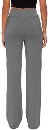 Womens Yoga Pants with Pockets Straight-Leg Loose Comfy Modal Drawstring Lounge Running Long Active Casual Sweatpants 6