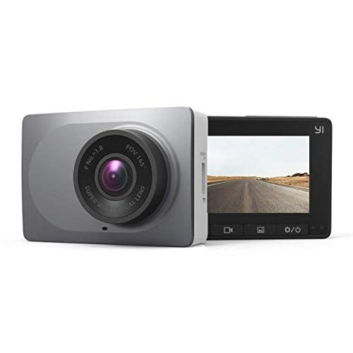 YI Smart Dash Cam, 2.7' Screen 1080P60 Full HD 165 Wide Angle Front Dashboard Camera Car DVR Vehicle Recorder with ADAS, G-Sensor, Phone APP, WDR, Loop Recording - Grey