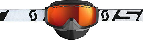 Scott Split OTG Adult Snowmobile Goggles - White/Black/Red Chrome/One Size