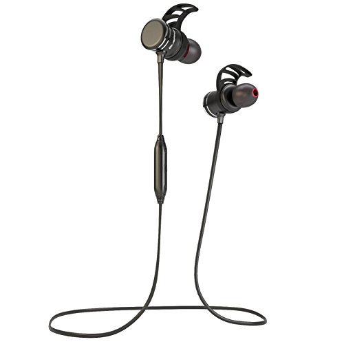 Bluephonic Wireless Headphones, Bluetooth Magnetic Earbuds w/Microphone | Impeccable HD Sound | Sports, Running & Gym Workout Noise Cancelling Headset | Fit in Ear Sweatproof Earphones | 8 Hour Play