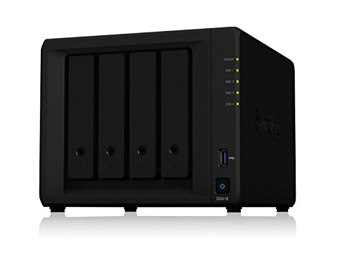 Synology DS418 NAS Disk station, 4-Bay, 2GB DDR4 (Diskless)