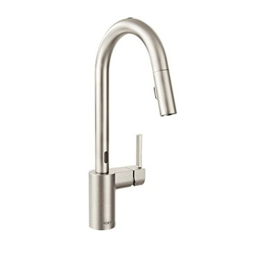 Moen 7565ESRS Align with Motionsense Two-Sensor Touchless One-Handle High-Arc Pulldown Kitchen Faucet Featuring Reflex, Spot Resist Stainless