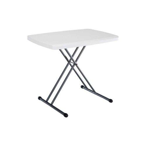 Lifetime 28241 Adjustable Folding Laptop Table TV Tray, 30 Inch White Granite