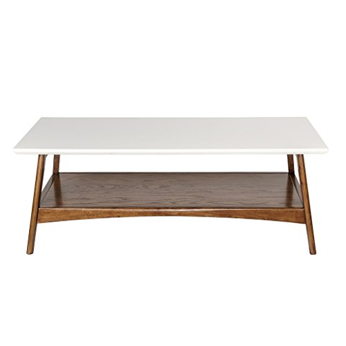 Madison Park Parker Accent Tables Wood Center Table White Pecan