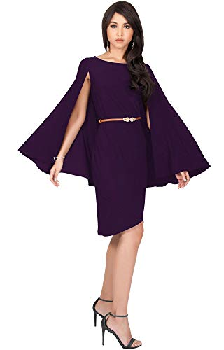 61SF5ai%2BU9L PLUS SIZE - This stunning design is available as a plus size midi dress STYLE - This elegant and unique cape sleeve mini dress can be worn as a bridesmaids dress cocktail dinner dresses formal and casual party midi dresses summer fall and winter holiday dresses OCCASION - Wedding cocktail party dinner date brunch christmas valentines new year's eve summer fall winter prom graduation