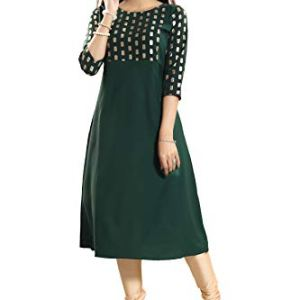 ALC Creation Women's Crepe a-line Kurta