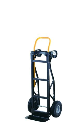 Harper Trucks 700 lb Capacity Glass Filled Nylon Convertible Hand Truck and Dolly with 10' Pneumatic Wheels