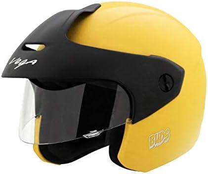 Vega Junior Buds Open Face Helmet (Yellow, XS)