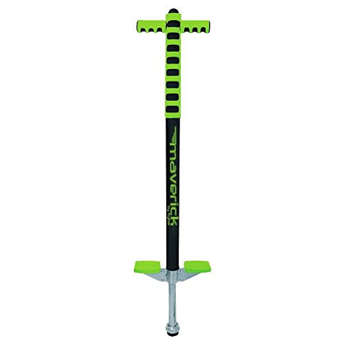 Flybar Foam Maverick Pogo Stick (Green/Black) - Great Intro Pogo Stick For Kids - For Ages 5 to 9