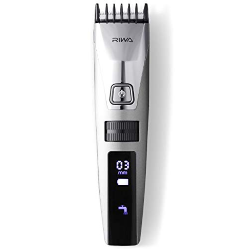 RIWA Men's Hair Trimmers Electric Hair Clippers, Cordless USB Rechargeable Beard Trimmer Grooming Kit with 15 Precision Length Settings for Men, Waterproof