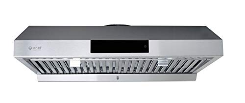"Chef 30"" PS18 Under Cabinet Range Hood, Stainless Steel 