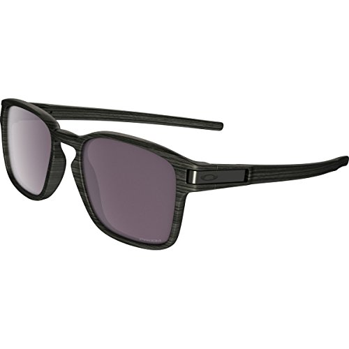 Oakley OO9353 Latch Squared Rectangular Sunglasses, Woodgrain/Prizm Daily Polarized, 52 mm