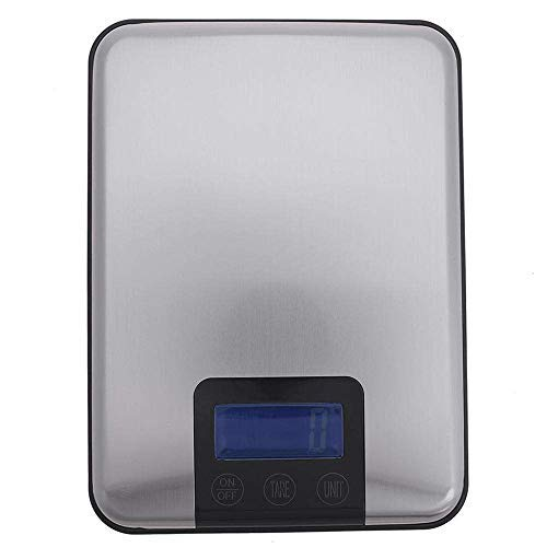 Digital Kitchen Scale 15kg/1g, Postal Scale Weigh in Pounds Ounces Grams Precise Weight Scale Premium Food Scale for Baking, Cooking Back-Lit LCD Display, Waterproof Stainless Platform