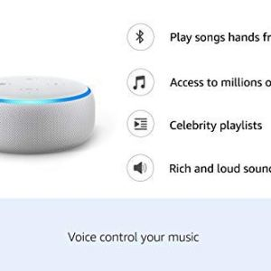 Echo Dot (White) bundle with Fire TV Stick and Wipro 9W smart bulb