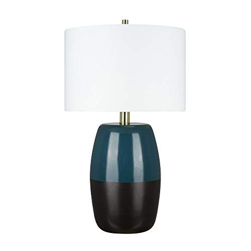 Catalina-Lighting-22101-001-Modern-2-Tone-Ombre-Glass-Table-Lamp-with-Brass-Accents-265-Matte-BlackBlue