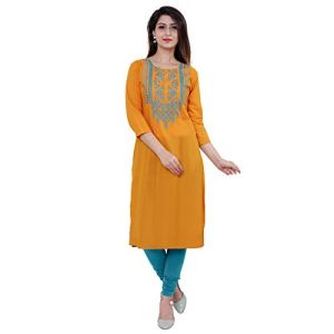 M&D Women's Cotton Straight Kurta