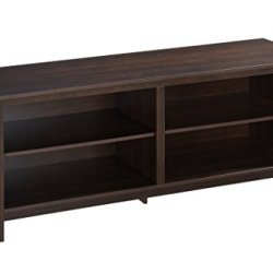 ROCKPOINT TV Stand Storage Media Console for TV's up to 65 Inches 58″ with 4 Storage Shelves, Mahogany Brown