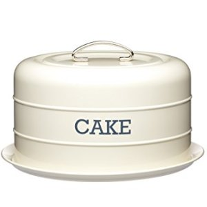KitchenCraft Living Nostalgia Airtight Cake Storage Tin / Cake Dome, 28.5cm – Antique Cream 31bCofRIwCL