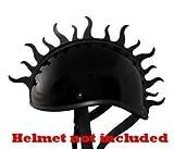 Motorcycle Helmet Peel and Stick Rubber Mohawk Helmets Mohawks Helmet Not Included