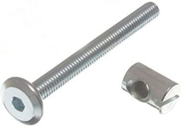 Cot Bed Bolt Allen Head With Barrel Nut