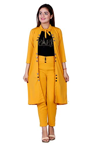 FNOCKS Girls Casual WEAR Cotton Lycra Stretchable 3 Piece Dress