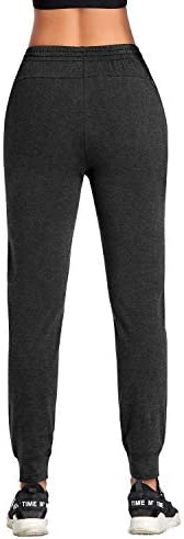 DAYOUNG Women's Yoga Jogger Sweatpants Lounge Workout Running  Pants Drawstring Pockets 3
