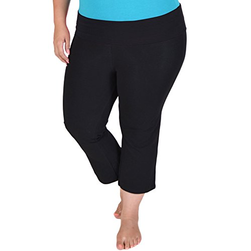 Plus size crop yoga pants