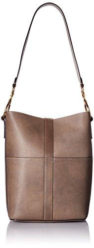 "31cGw63RT5L Leather bucket hobo bag 1 interior slip pocket Measurements: 9''W X 12.25""'H X 5.5''D, shoulder drop 13.75''."
