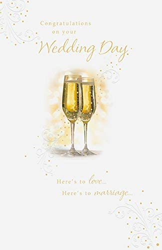 Amazon Com Congratulations On Your Wedding Day Card Office Products