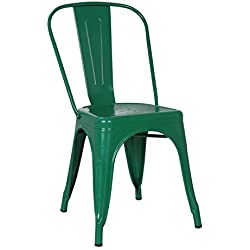 POLY & BARK EM-112-BRZ-X4 Poly and Bark Trattoria Side Chair in Bronze, Set of 4,